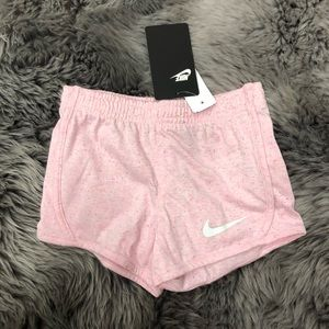 Nike | Girls Soft Speckled Shorts | Pink & White